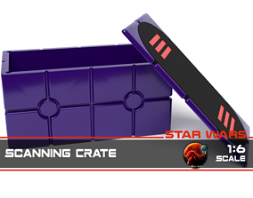 Star Wars Death Star Scanning Crate with 3D print model 3