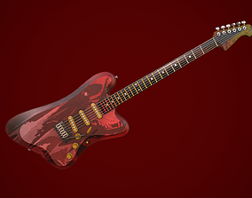 3D model rigged PBR Electric guitar