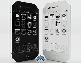 Generic Phone Concept Design 3D asset