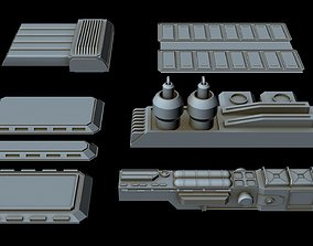 3D Starship Greeble collection 3