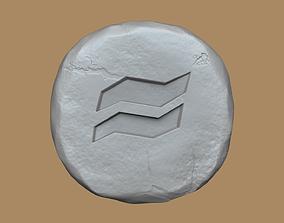 3D print model Earth Rune - Runescape - STL Keychain