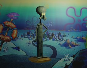 Squidward Tentacles stl obj 3D