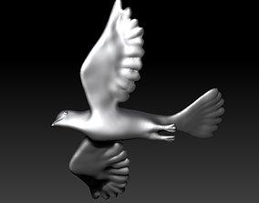 Dove 3D print model bird