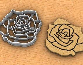 Rose cookie cutter v2 3D printable model