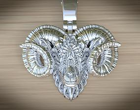 pendants 3D printable model Aries pendant