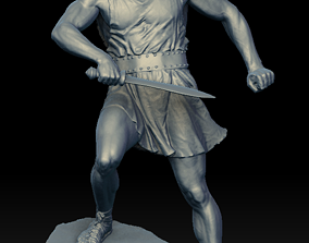 war 3D Male Warrior Statue