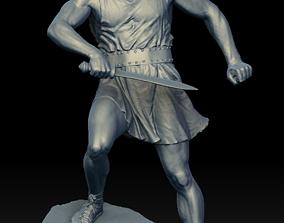 3D Male Warrior Statue