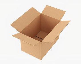 Cardboard box open mockup 04 3D model