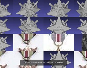 3D model Official Poland Stars decorations
