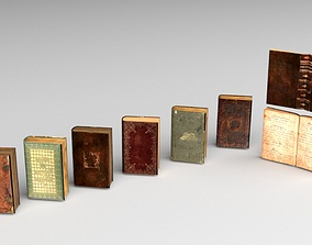 3D model Low Poly Books