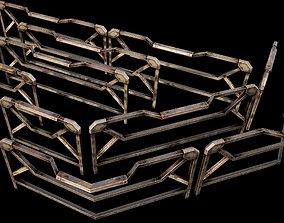 Modular Guardrail - sci fi architectural 3D model