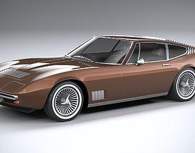 Generic Italian Classic Supercar 1970 3D model