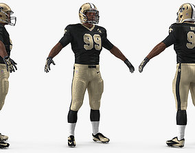 American Football Player New Orleans Saints 3D model 1