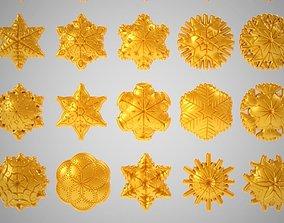 Snowflakes crystal 3D print model