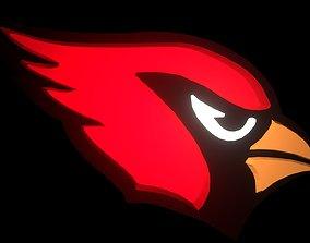 3D Cardinals NFL football logo