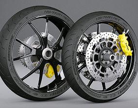 vray Motorcycle Wheels 3D model