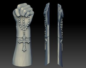 3D printable model hand cross tattoo Bas-relief CNC