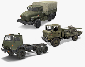 3D Military Truck Pack