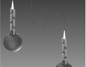 3D print model Wrecking Ball Earrings