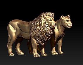 3D print model lion lioness lionstatue