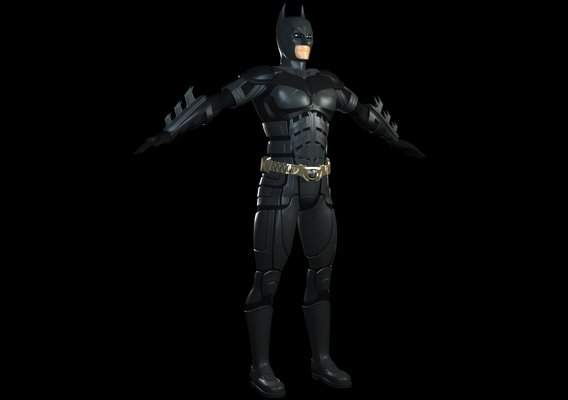 Batman (The Dark Knight Version) Upcoming 3D Model WIP