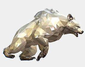3D model Animated Low Poly Art Arctic animal White Bear