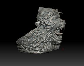 Angry Gorilla ring 3d print model