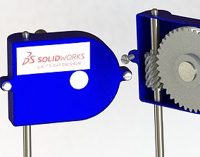 mechanical 3D Helical gear box transmition - SolidWorks