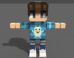 Boy Voxel 3D asset
