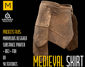 3D asset Medieval Skirt Marvelous and Substance projects