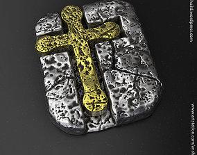 3D print model Jesus cross vol3 Pendant