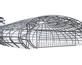 Hangar 7 Salzburg Airport Red Bull 3D model
