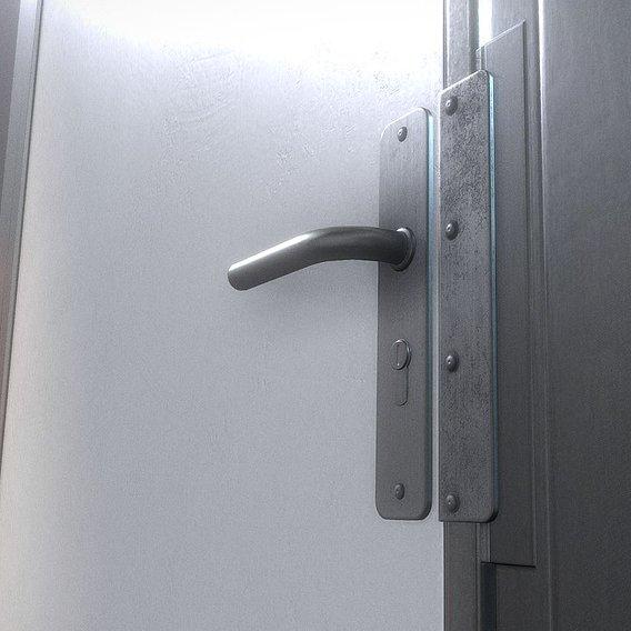 Animated Metal Door Version 1 Handle
