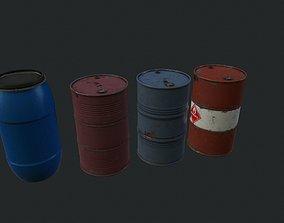 Barrel barrels 3D asset
