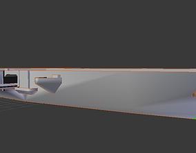 game-ready USS Saratoga 3D Model