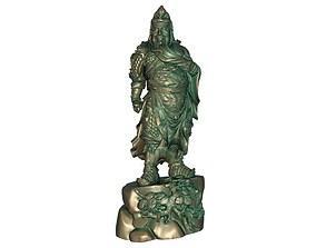 Guan Gong Sculpture 3D printable model 3D asset