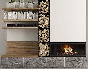 Fireplace Set 11 3D