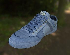 Sneaker shoe low poly model 3D asset