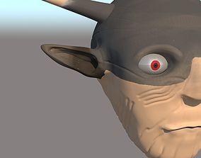 10000 BC old war troop face 3D