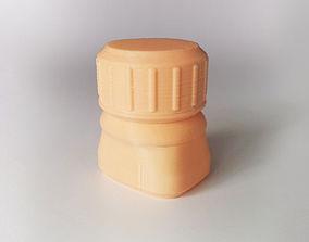 bottle-cap Bottle and Screw Cap 3D printable model