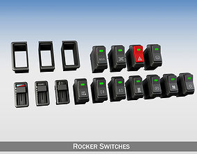 vehicle Rocker switches with gang 3D model