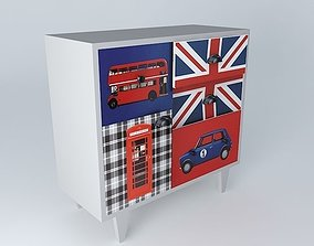 LONDON gray cabinet houses the world 3D model