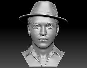 Bruno Mars bust 3D printing ready stl obj formats