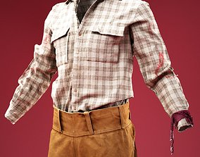 3D model Horror Cowboy Costume Shirt and Chaps