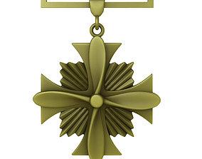 3D USAF Distinguished Flying Cross Medal