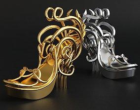 Fashion Lady Shoes Idea printable 3d model 3D model