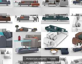 Portland sofa collection 3D