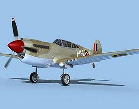 Curtiss P-40F Tomahawk V03 RAF 3D