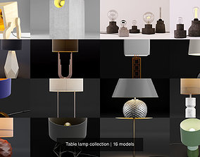 furniture Table lamp collection 3D
