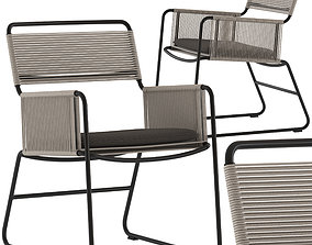 Coco Republic Milan Outdoor Carver Dining Chair 3D model